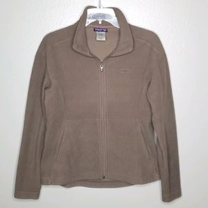 Patagonia M Synchilla full zip jacket light brown